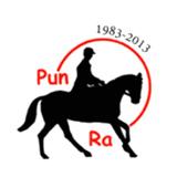 Punametsän Ratsastajat - logo